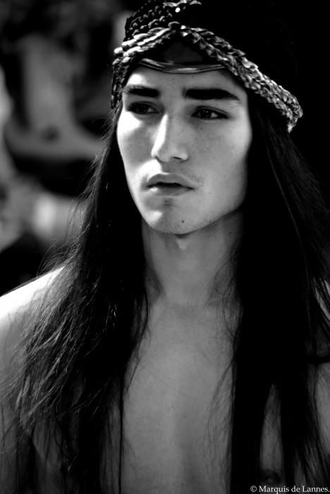 Native American. I am sorry but I have to say this. Holy shit this guy is hot!! I feel better now.