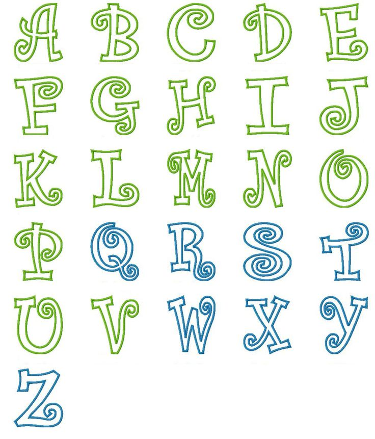 Best applique fonts images on pinterest embroidery
