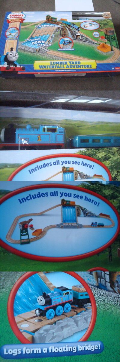 Train Sets 113519: New Sealed Thomas Train Waterfall Adventure Set Fisher Price Lumber Yard -> BUY IT NOW ONLY: $84.99 on eBay!