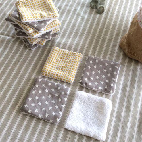 Lingettes lavables pour bébé - couture bébé - écologique - accessoires
