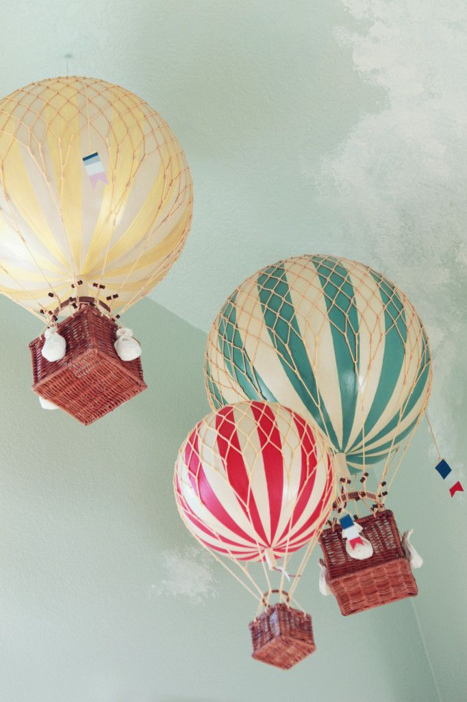 Vintage Carnival Nursery--my favorite things, and essentially the reason I am pining this, are the hot air balloons!