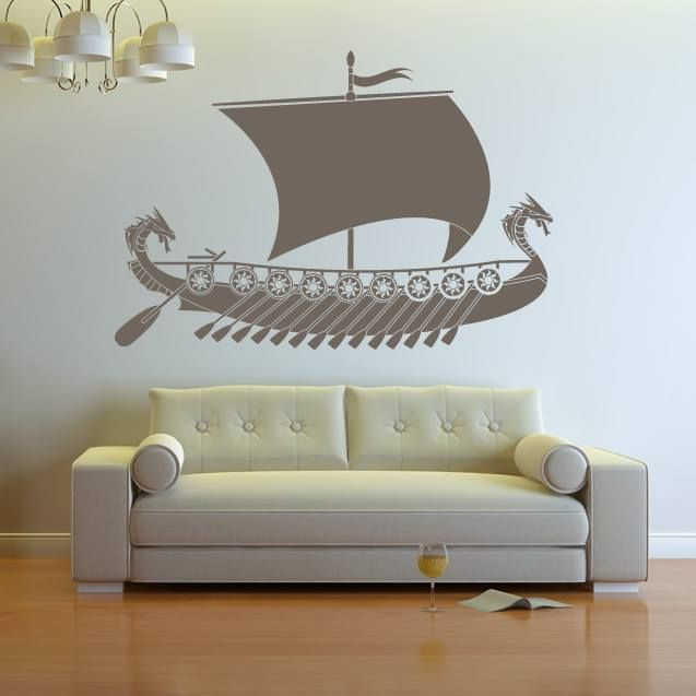 Viking Ship Drakkar Transport Boats Wall Art Sticker Wall Decal ...