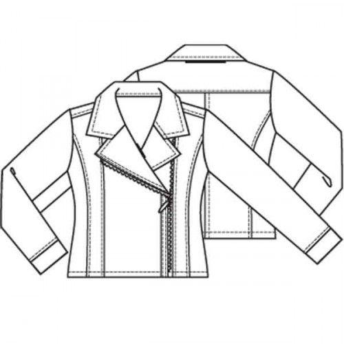 Patroon motor jasje (Pdf patroon)a| Knipmode naaipatronen | Knipmode