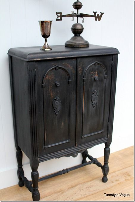 Antique Cabinet Milk Paint Makeover By Turnstyle Vogue (10)