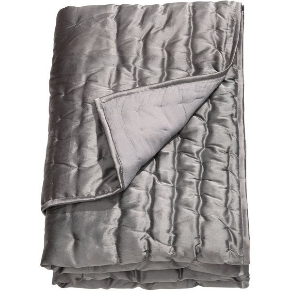 H&M Bedspread ($53) ❤ liked on Polyvore featuring home, bed & bath, bedding, bedspreads, grey, h&m bedding, quilted bedspreads, gray bedspread, grey bedspread and grey bedding
