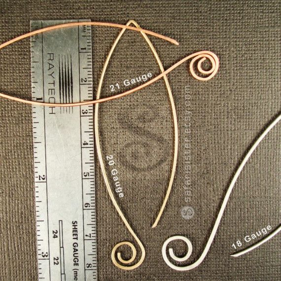 Large Petal-Spiral Earwires, Earrings, Jewelry Findings