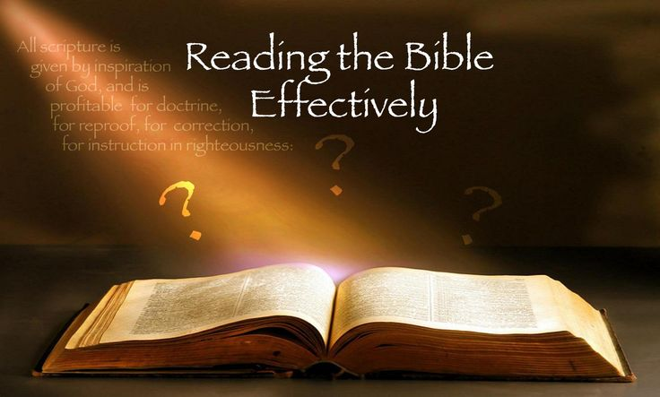 How to read the Bible Effectively Christadelphians