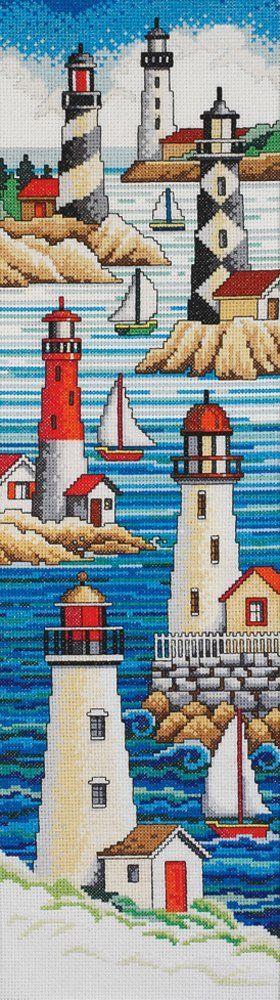 Amazon.com: Janlynn Cross Stitch Kit, 21-Inch by 6-Inch, Lighthouses