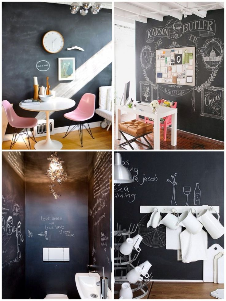 44 best deco pizarra images on pinterest arquitetura - Pizarra de pared ikea ...