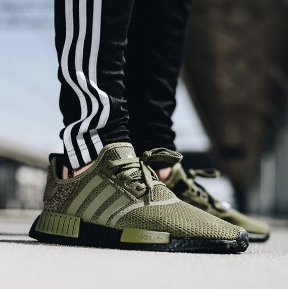 new concept 2119c 52844 Instead of a complete olive green takeover the NMD boosts a ...