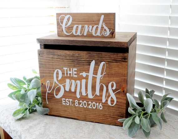 Rustic Personalized Painted Wooden Wedding by BitsOfImperfection