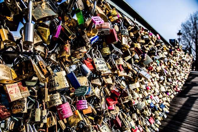 Desert Mirage: Love Locks Aka Padlocks Bridge Paris | France