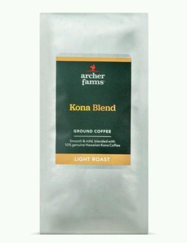 Archer Farms / Kona Blend / Light Roast / Ground Coffee (2-12oz Bags)