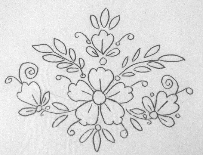 Disenos De Flores Para Bordados Mano