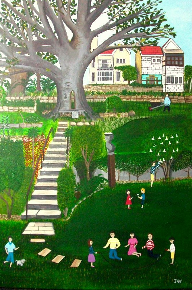 Fun Times in Wendy's Secret Garden (Framed) Mosman Art Prize Finalist