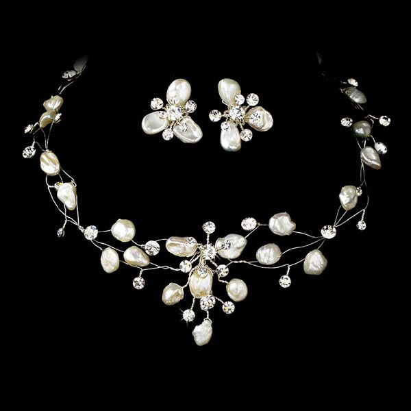 Couture Keshi Pearl And Rhinestone Bridal Jewelry Set A Beautiful Choice For Your Beach Wedding Affordable Elegance