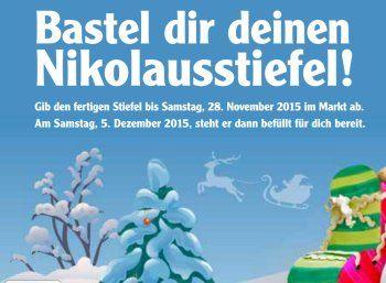 Globus: Nikolausstiefel basteln und gratis befüllen lassen http://www.discountfan.de/artikel/essen_und_trinken/globus-nikolausstiefel-basteln-und-gratis-befuellen-lassen.php Bei Globus kann man sich jetzt einen selbst gebastelten Nikolausstiefel gratis befüllen lassen. Die Bastelbögen gibt es in allen Globus-Märkten an der Infotheke zum Nulltarif. Globus: Nikolausstiefel basteln und gratis befüllen lassen (Bild: Globus.de) Um den kostenlos befüllten Nikolausstiefel z.