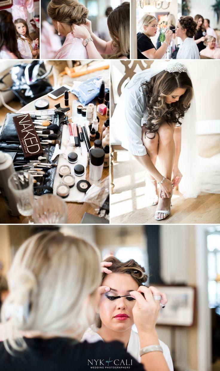 Nyk + Cali Wedding Photographers | Nashville, TN | Getting Ready | Vine Street Church | One10 Makeup | Bridesmaids | Makeup | Shoes | Veil | Bride |
