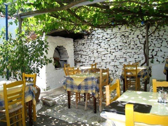 A little taverna in Manolates village, Samos