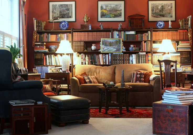 Love the style of this gentleman's lounge room!