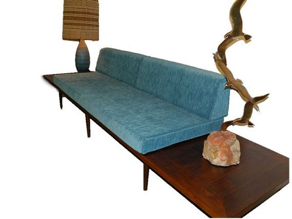 Mid Century Modern Daybed Sofa with Floating Side by GoModRetro
