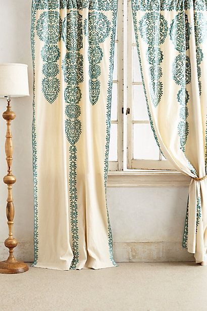 Marrakech Curtain #anthropologie omigosh I don't know what color I love more...turquoise or blue.