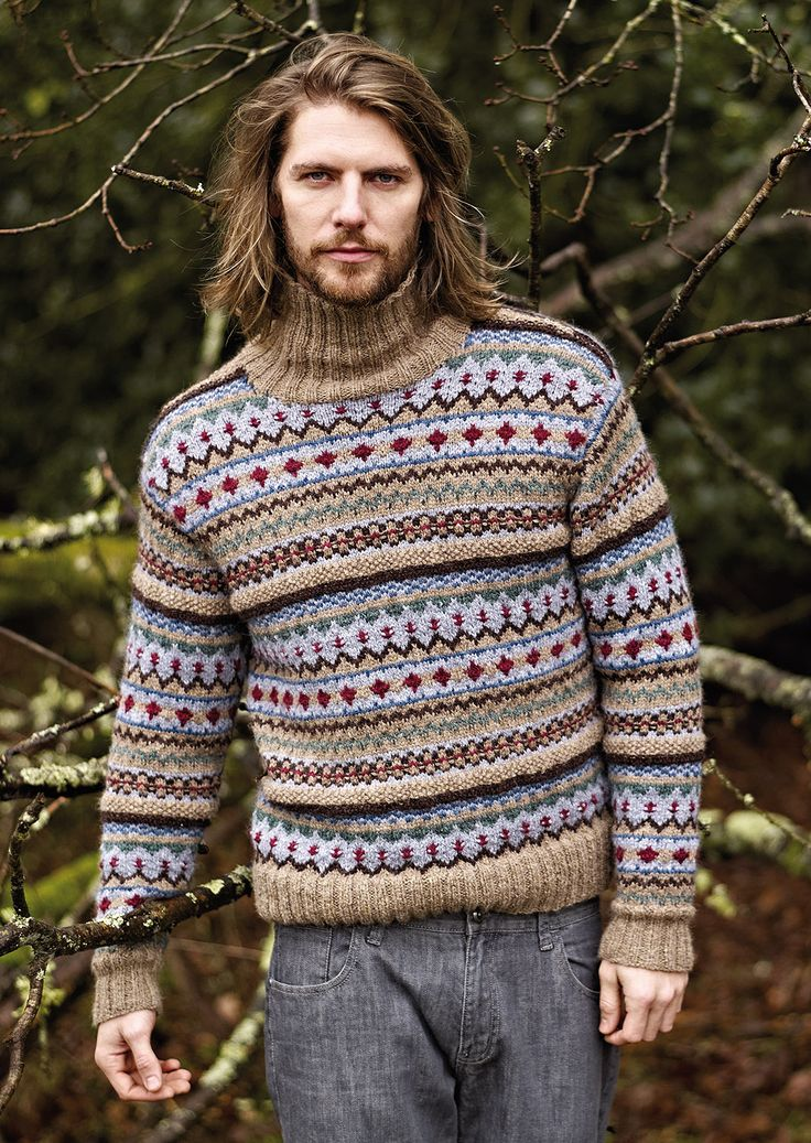 NEW ROWAN PATTERN BOOK A/W 2013: Youlgrave (men's version) by Marie Wallin, in Autumn Knits booklet, available July 15, 2013. Made with Rowan Lima.