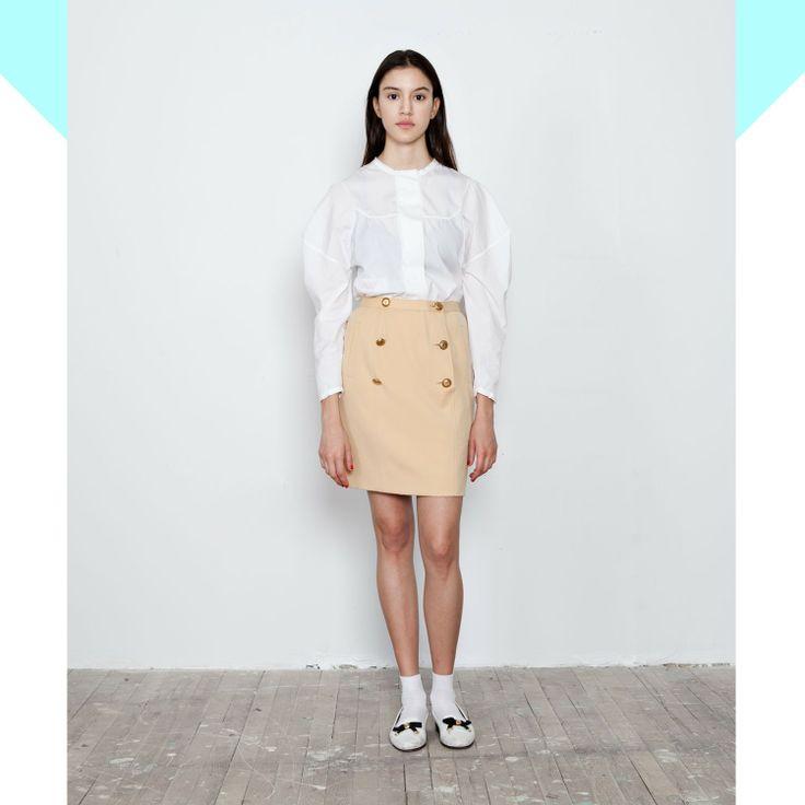 cute beige chanel skirt - Vine Streets