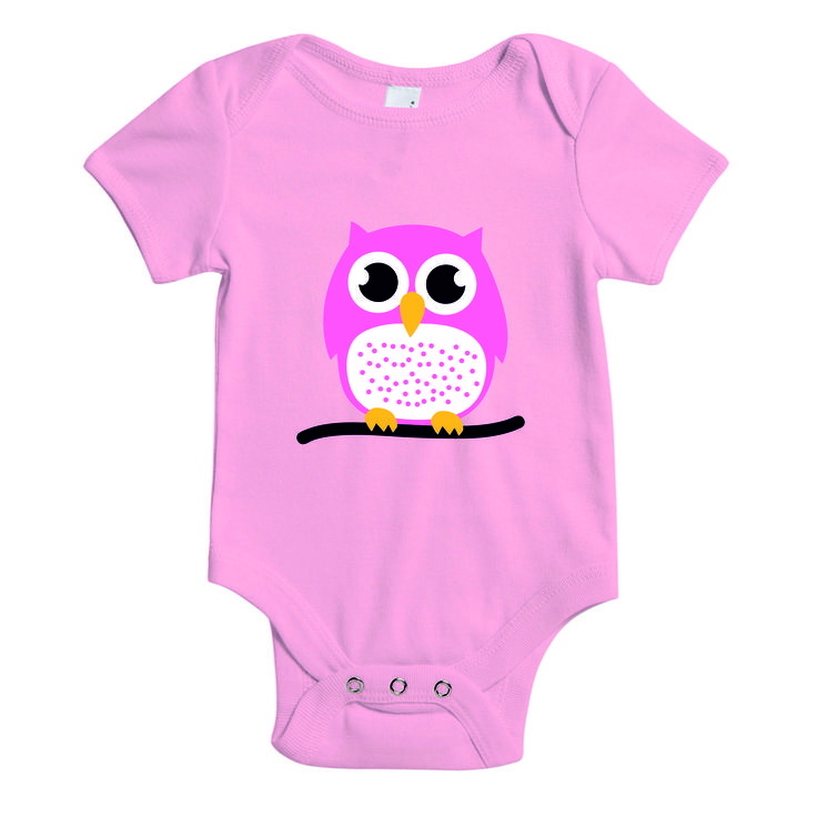 Baby rompertje - roze - uil