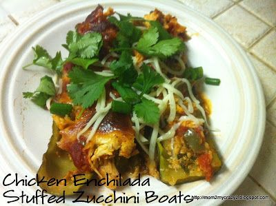 Chicken Enchilada Stuffed Zucchini Boats | yummy yummy yummy in my tu ...