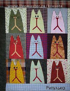 """Лоскутное панно """"Красавчеги"""" - квилт,пэчворк,лоскутное панно,лоскутное одеяло"""