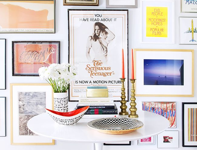 Find a subtle link between the artwork in your gallery wall.