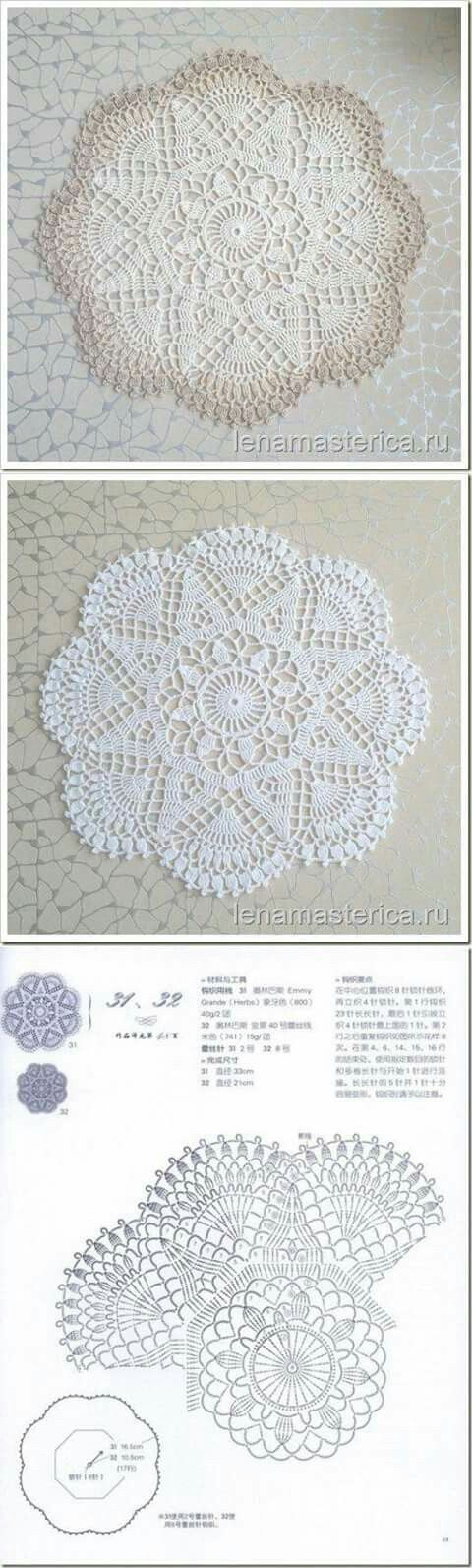 22 Best Crochet Doilies Images On Pinterest Crochet Patterns
