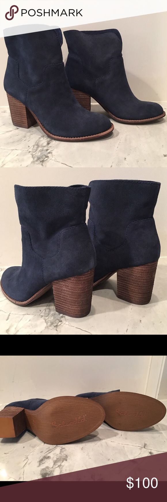 "NWT Splendid ""Murietta"" Heels - Size 8.5 Retail: $225. Gorgeous, navy, ankle boots from Splendid. ""Murietta"" style. Cow sides. Currently $168 on Amazon. Never worn. Includes original box. Splendid Shoes Ankle Boots & Booties"