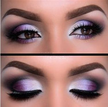 Silver Purple eyeshadow ideas