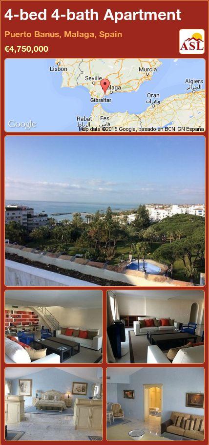 4-bed 4-bath Apartment in Puerto Banus, Malaga, Spain ►€4,750,000 #PropertyForSaleInSpain