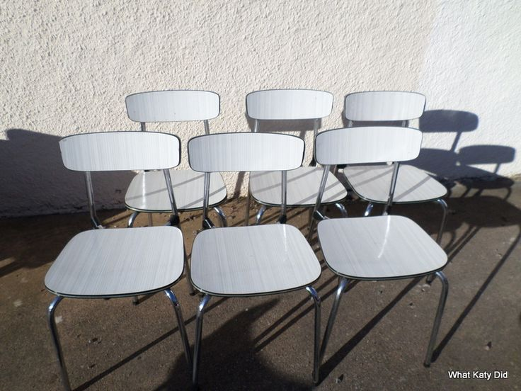 50s formica and chrome diner chairs - http://whatkatydid.biz/product/kitchen-diner/50s-formica-chrome-diner-chairs/