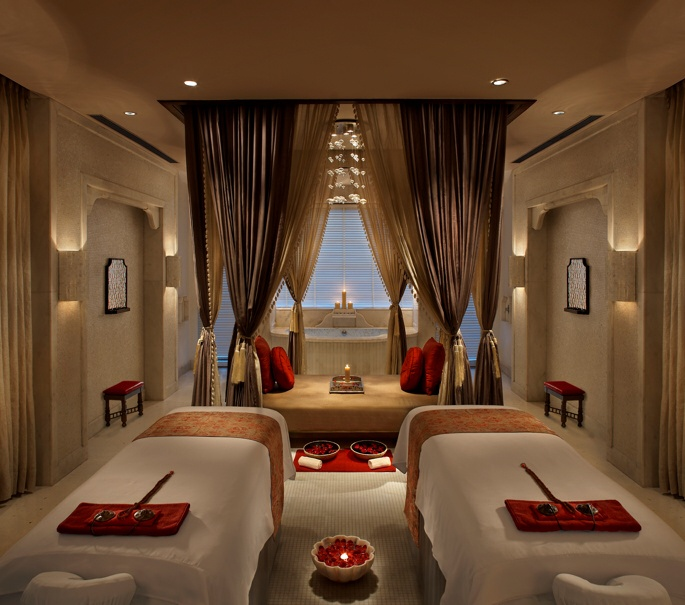 The Royal Spa's couple treatment room at the ITC Mughal Hotel, Agra