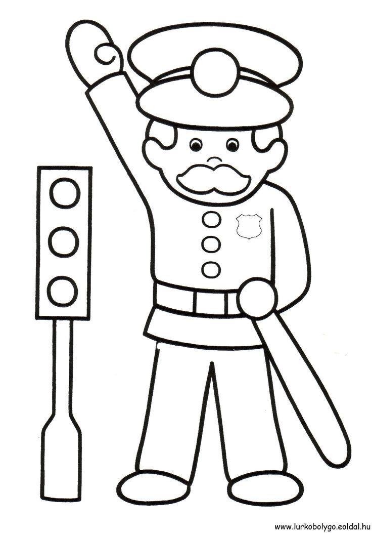 """Képtalálat a következőre: """"rendőr színező"""""""