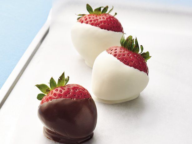 Create an easy, impressive dessert by dipping juicy strawberries in sweet chocolate.