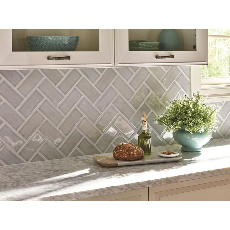 Handcrafted Glazed Ceramic Wall Tile 1 Sq Ft Case Grey Backsplashherringbone Backsplashherringbone Patternbacksplash