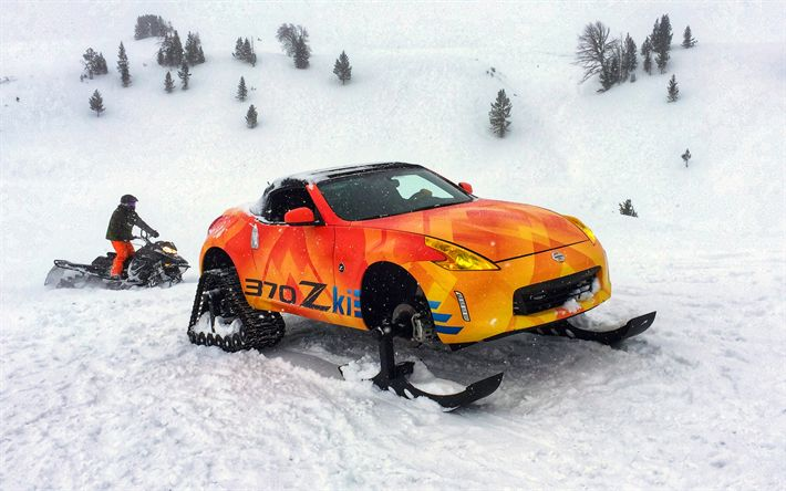 Download wallpapers Nissan 370Zki, offroad, 2018 cars, extreem, tunned 370Z, Nissan