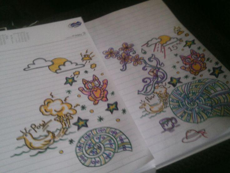 doodling funny cartoons ducks and crap