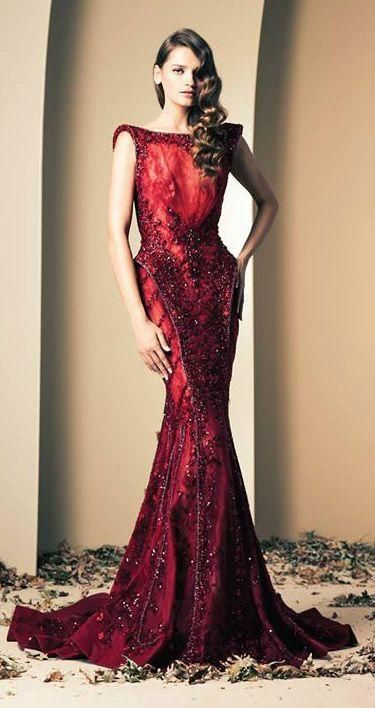 red wedding and haute couture