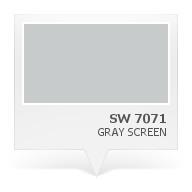 SW 7071 - Gray Screen