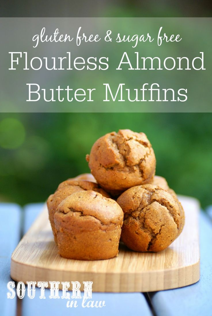 Healthy Flourless Almond Butter Muffins Recipe - low carb, gluten free, sugar free, clean eating friendly, grain free, paleo