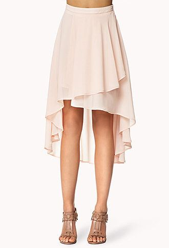Tiered High Low Skirt