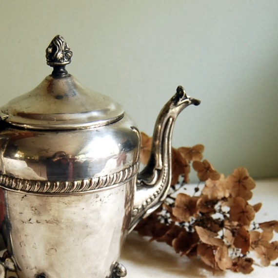 Vintage Teapot Ornate Crosby Silver Plate Teapot by CalloohCallay