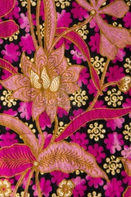 batik with floral patterns