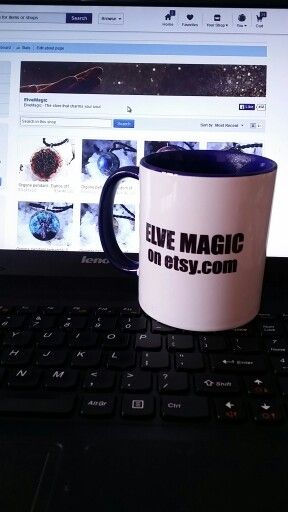Nice mug, tasty coffee, beautiful etsy.com shop ElveMagic Go take a look and charm your soul!